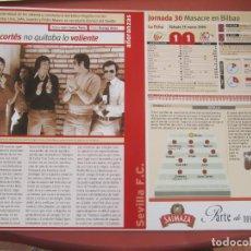 Coleccionismo deportivo: SEVILLA F. C. - AÑORANZAS - FICHA JORNADA 30 - ATHLETIC-SEVILLA F.C. - TEMPORADA 1999-2000.. Lote 206205146