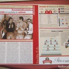 Coleccionismo deportivo: SEVILLA F. C. - AÑORANZAS - FICHA JORNADA 30 - ATHLETIC-SEVILLA F.C. - TEMPORADA 1999-2000.. Lote 206205200