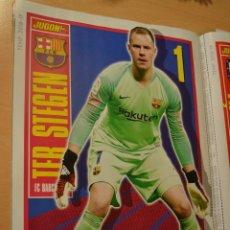 Coleccionismo deportivo: POSTER TEMPORADA 2018-19 TER STEGEN (FC BARCELONA) MEDIDAS 30 X 22 CMS. Lote 206460512