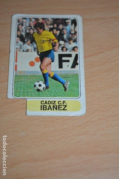 CROMO MAL RECORTADO DE IBAÑEZ (CADIZ) (Coleccionismo Deportivo - Material Deportivo - Fútbol)