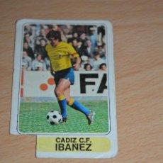 Coleccionismo deportivo: CROMO MAL RECORTADO DE IBAÑEZ (CADIZ). Lote 206464982