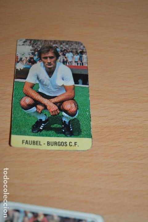 CROMO MAL RECORTADO DE FAUBEL (BURGOS) (Coleccionismo Deportivo - Material Deportivo - Fútbol)