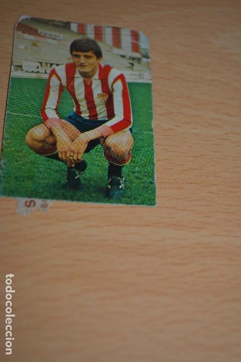 CROMO MAL RECORTADO DE GONZALEZ (SPORTING GIJON) (Coleccionismo Deportivo - Material Deportivo - Fútbol)