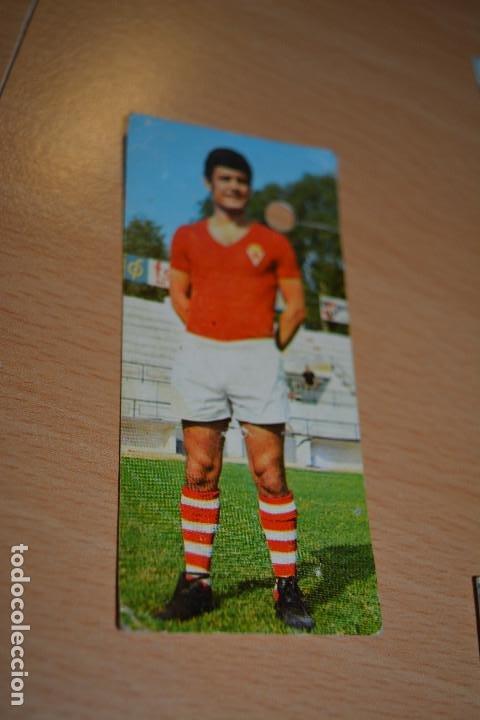 CROMO MAL RECORTADO DE LOPEZ (MURCIA) (Coleccionismo Deportivo - Material Deportivo - Fútbol)