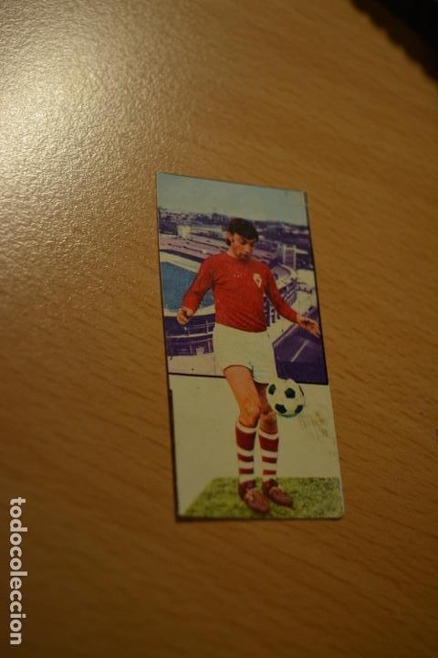 CROMO MAL RECORTADO DE CASCO (MURCIA) (Coleccionismo Deportivo - Material Deportivo - Fútbol)