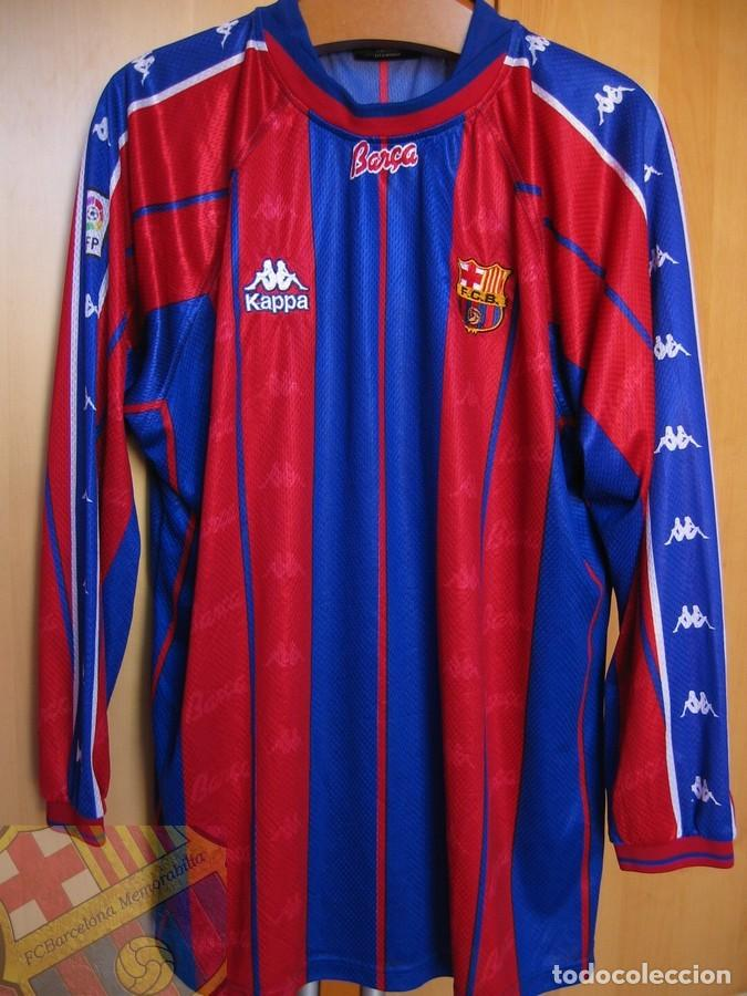 Coleccionismo deportivo: FC BARCELONA BARÇA 1997-98 CAMISETA MATCH WORN SHIRT LS ANDERSON #9 - Foto 2 - 207026113