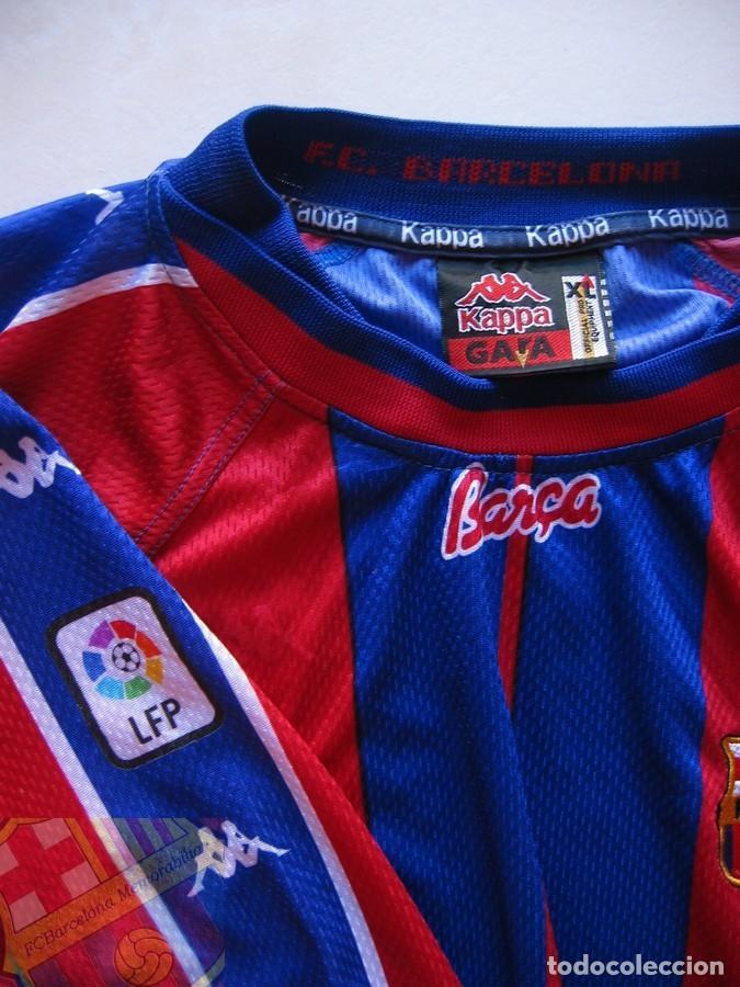 Coleccionismo deportivo: FC BARCELONA BARÇA 1997-98 CAMISETA MATCH WORN SHIRT LS ANDERSON #9 - Foto 3 - 207026113