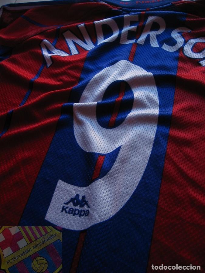 Coleccionismo deportivo: FC BARCELONA BARÇA 1997-98 CAMISETA MATCH WORN SHIRT LS ANDERSON #9 - Foto 4 - 207026113