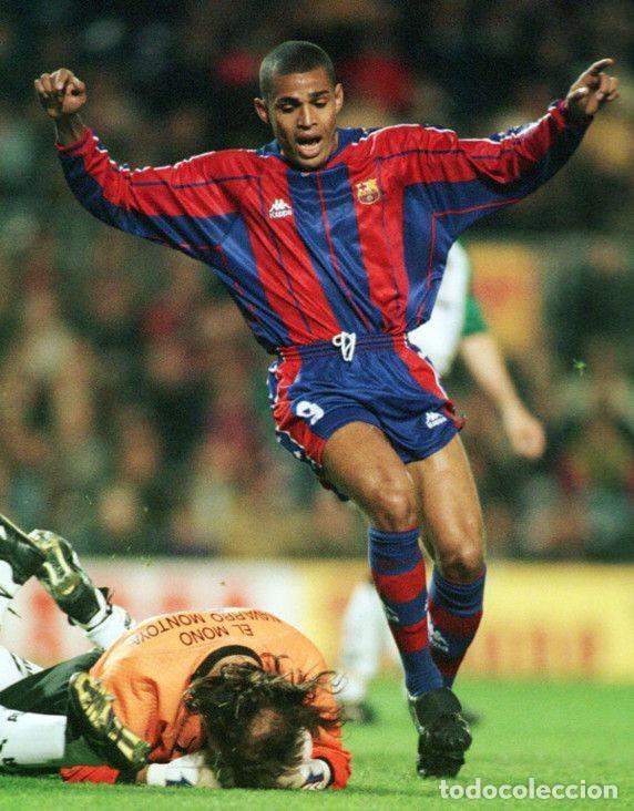 Coleccionismo deportivo: FC BARCELONA BARÇA 1997-98 CAMISETA MATCH WORN SHIRT LS ANDERSON #9 - Foto 5 - 207026113