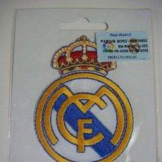 Coleccionismo deportivo: PARCHE DE TELA DEL ESCUDO DEL REAL MADRID. Lote 207259991