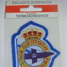 Coleccionismo deportivo: PARCHE DE TELA DEL ESCUDO REAL CLUB DEPORTIVO LA CORUÑA. Lote 207260106
