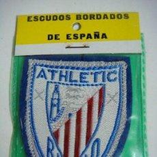 Coleccionismo deportivo: PARCHE DE TELA ESCUDO BORDADO DEL ATHLETIC DE BILBAO. Lote 207260368