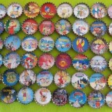 Coleccionismo deportivo: COLECCIÓN DE CHAPAS DIBUJOS ANIMADOS AÑOS 80-90. Lote 209933460