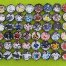 Coleccionismo deportivo: COLECCION COMPLETA EN CHAPAS DE LOS MEJORES FUTBOLISTAS DE LA HISTORIA. Lote 209934312