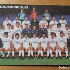 Coleccionismo deportivo: FOTO POSTAL DEL REAL MADRID AÑO 1985. Lote 210353567