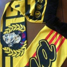 Coleccionismo deportivo: PEÑA DRACS FC BARCELONA HOOLIGNS ULTRA ULTRA CATALUNYA REDSKINS SHARPS BUFANDA SCARF SEDA. Lote 210445155