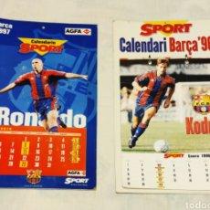Colecionismo desportivo: 2 CALENDARIOS FÚTBOL CLUB BARCELONA. BARÇA. SPORT. CALENDARI. 1996/97. RONALDO. Lote 210618607
