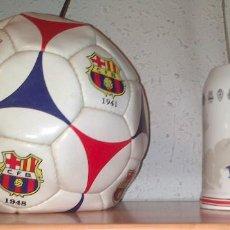 Coleccionismo deportivo: BALON MUNDO DEPORTIVO ESPECIAL CENTENARIO FC BARCELONA + JARRA CERVEZA ESTRELLA DAMM AÑOS 90 BARÇA. Lote 211722508