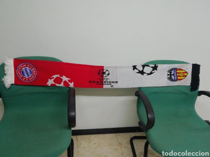 BUFANDA FC BAYERN MUNCHEN - VALENCIA CF (Coleccionismo Deportivo - Material Deportivo - Fútbol)
