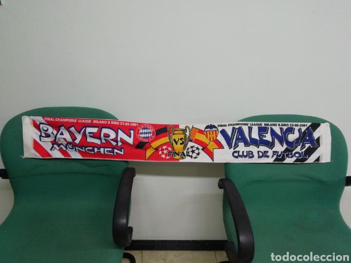 Coleccionismo deportivo: Bufanda VALENCIA CF - BAYERN MUNCHEN - Foto 2 - 212161612