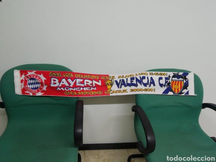 BUFANDA VALENCIA CF - BAYERN MUNCHEN (Coleccionismo Deportivo - Material Deportivo - Fútbol)