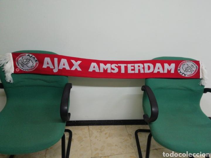 BUFANDA AJAX AMSTERDAM DE HOLANDA (Coleccionismo Deportivo - Material Deportivo - Fútbol)