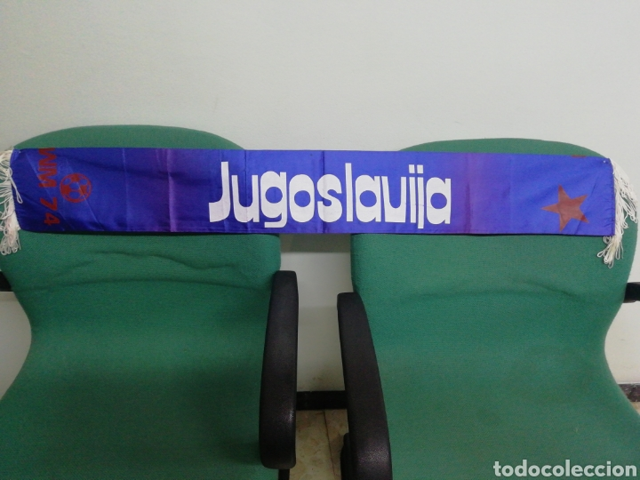 BUFANDA FEDERACIÓN DE FUTBOL DE YUGOSLAVIA (Coleccionismo Deportivo - Material Deportivo - Fútbol)
