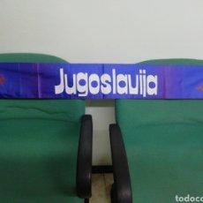 Coleccionismo deportivo: BUFANDA FEDERACIÓN DE FUTBOL DE YUGOSLAVIA. Lote 212173622