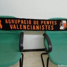 Coleccionismo deportivo: BUFANDA AGRUPACIÓ DE PENYES VALENCIANISTES. Lote 212253336