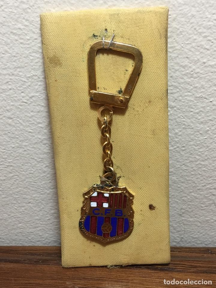 LLAVERO CLUB FÚTBOL BARCELONA ESMALTADO (Coleccionismo Deportivo - Material Deportivo - Fútbol)