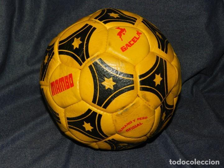 (M) BALON PELOTA DE FUTBOL MARCA MAMBO GACELA , SEÑALES DE USO (Coleccionismo Deportivo - Material Deportivo - Fútbol)