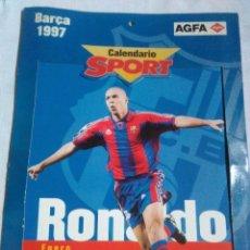 Coleccionismo deportivo: CALENDARIO F.C.B. BARÇA SPORT DE 1997 CON PUBLICIDAD AGFA.POR FICHAS.. Lote 212827286