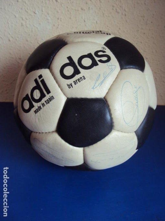 (F-200799)BALON ADIDAS SATURN AÑOS 70 - FIRMAS ORIGINALES CRUYFF,SOTIL,COSTAS,GALLEGO,ETC. (Coleccionismo Deportivo - Material Deportivo - Fútbol)