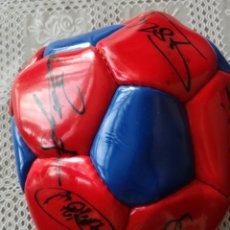 Coleccionismo deportivo: DREAM TEAM ROMARIO SIGNED BALL FIRMAS PELOTA FUTBOL FC BARCELONA. Lote 213944592