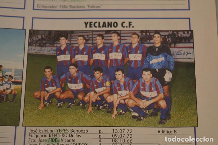 RECORTE DE DON BALON.INICIO TEMPORADA 94-95.RELACIÓN DE JUGADORES Y FOTO DEL YECLANO (Coleccionismo Deportivo - Material Deportivo - Fútbol)