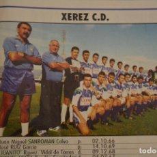 Coleccionismo deportivo: RECORTE DE DON BALON.INICIO TEMPORADA 94-95.RELACIÓN DE JUGADORES Y FOTO DEL XEREX CD. Lote 214010922