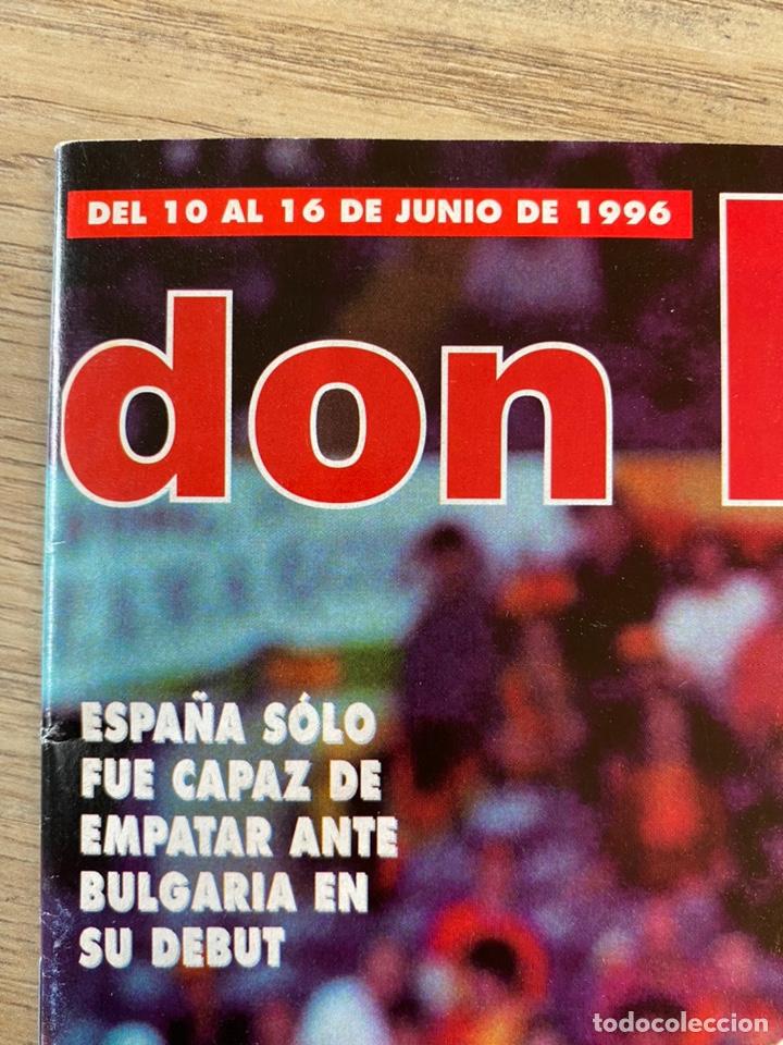 Coleccionismo deportivo: Lote España Eurocopa 1996 Fútbol Colección Balón Adidas Revista Don Balón y Naipes Fournier - Foto 9 - 215710777