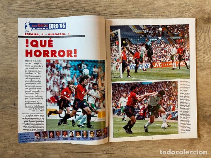 Coleccionismo deportivo: Lote España Eurocopa 1996 Fútbol Colección Balón Adidas Revista Don Balón y Naipes Fournier - Foto 10 - 215710777