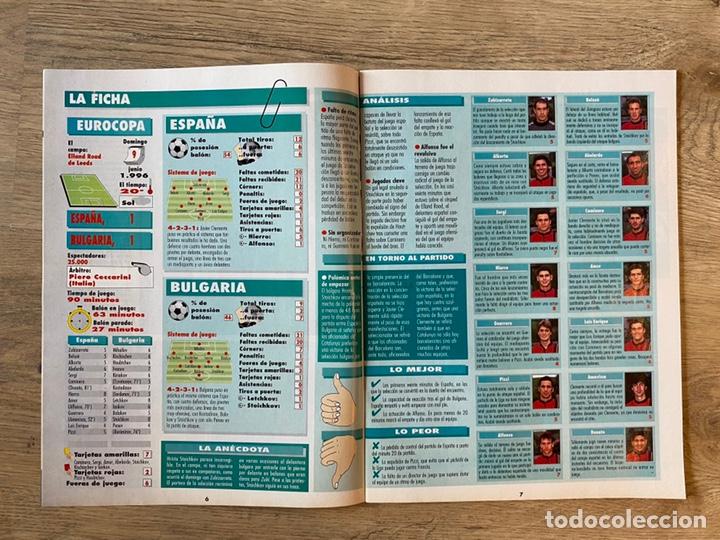 Coleccionismo deportivo: Lote España Eurocopa 1996 Fútbol Colección Balón Adidas Revista Don Balón y Naipes Fournier - Foto 11 - 215710777