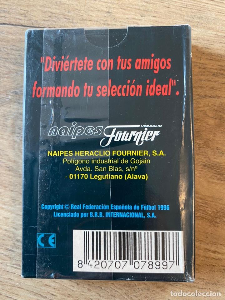 Coleccionismo deportivo: Lote España Eurocopa 1996 Fútbol Colección Balón Adidas Revista Don Balón y Naipes Fournier - Foto 15 - 215710777