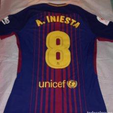 Coleccionismo deportivo: MATCH UN WORN FC BARCELONA:ANDRES INIESTA. Lote 217484573
