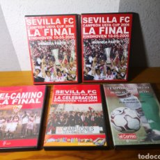Coleccionismo deportivo: LOTE 5 DVD SEVILLA FC CAMPEÓN EUROPA LEAGUE 2006 FÚTBOL. Lote 217960637