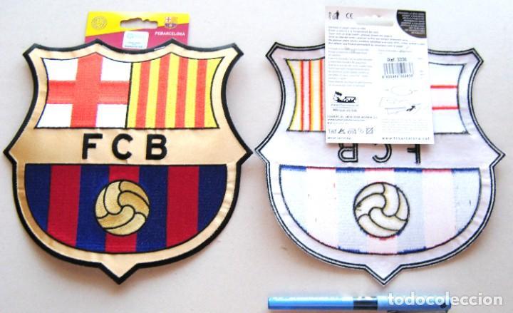FC BARCELONA PARCHE ESCUDO TELA OFICIAL ETIQUETAS MUY GRANDE 21X20 TERMOADHESIVO R (Coleccionismo Deportivo - Material Deportivo - Fútbol)