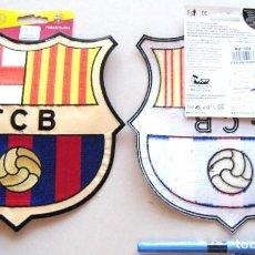 Coleccionismo deportivo: FC BARCELONA PARCHE ESCUDO TELA OFICIAL ETIQUETAS MUY GRANDE 21X20 TERMOADHESIVO R. Lote 217985627