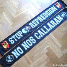 """Coleccionismo deportivo: BUFANDA SCARV ULTRAS SUR """" NO NOS CALLARAN """" REAL MADRID SCIARPA NEW NUEVA !!. Lote 218033160"""