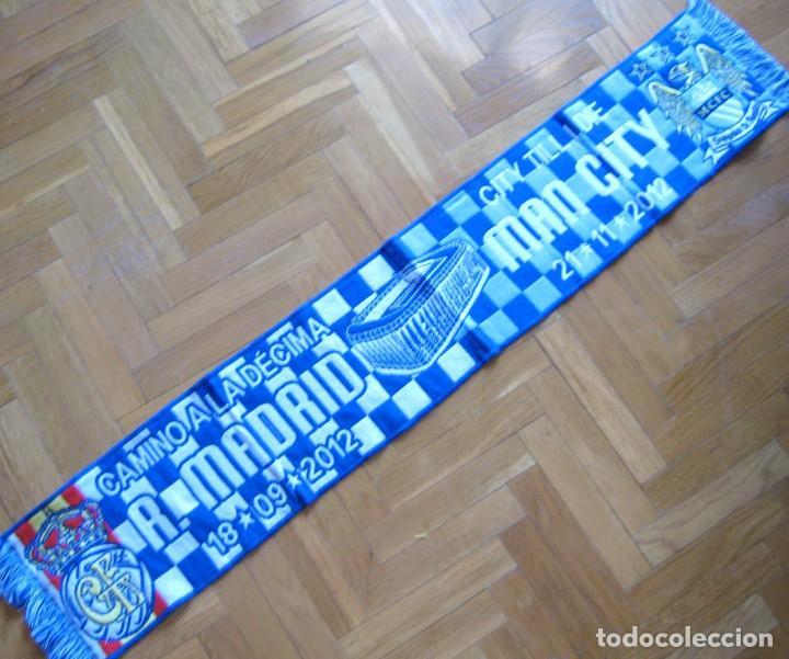BUFANDA SCARF REAL MADRID – MANCHESTER CITY 2012-2013 NEW SCHAL SCIARPA ECHARPE (Coleccionismo Deportivo - Material Deportivo - Fútbol)