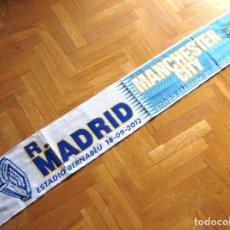 Coleccionismo deportivo: BUFANDA SCARF REAL MADRID - MANCHESTER CITY CHAMPIONS LEAGUE 12-13 SCHAL ECHARPE R. Lote 218033667