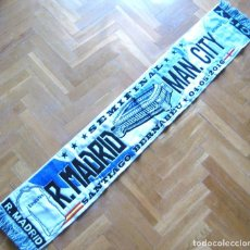 Coleccionismo deportivo: BUFANDA SCARF REAL MADRID - MANCHESTER CITY SEMIFINAL CHAMPIONS 04-05-16 SCIARPA R. Lote 218033741