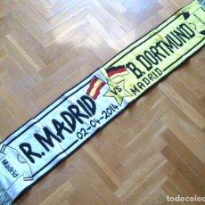 Coleccionismo deportivo: BUFANDA SCARF REAL MADRID - BORUSSIA DORTMUND CHAMPIONS LEAGU 13-4 SCHAL ECHARPE. Lote 218033818