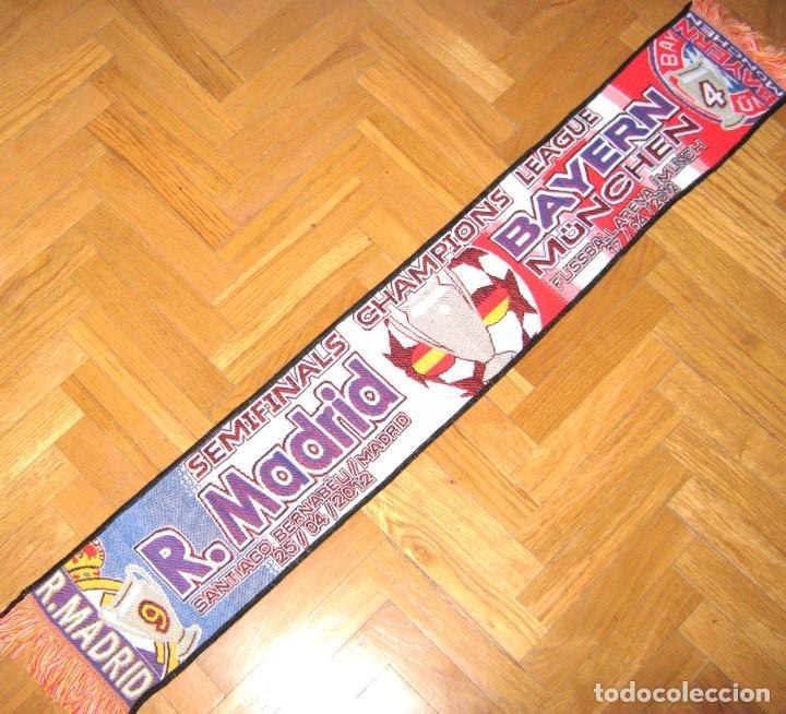 BUFANDA SCARF REAL MADRID – BAYERN MUNCHEN MUNICH 2011-12 CHL NEW SCHAL SCIARPA (Coleccionismo Deportivo - Material Deportivo - Fútbol)